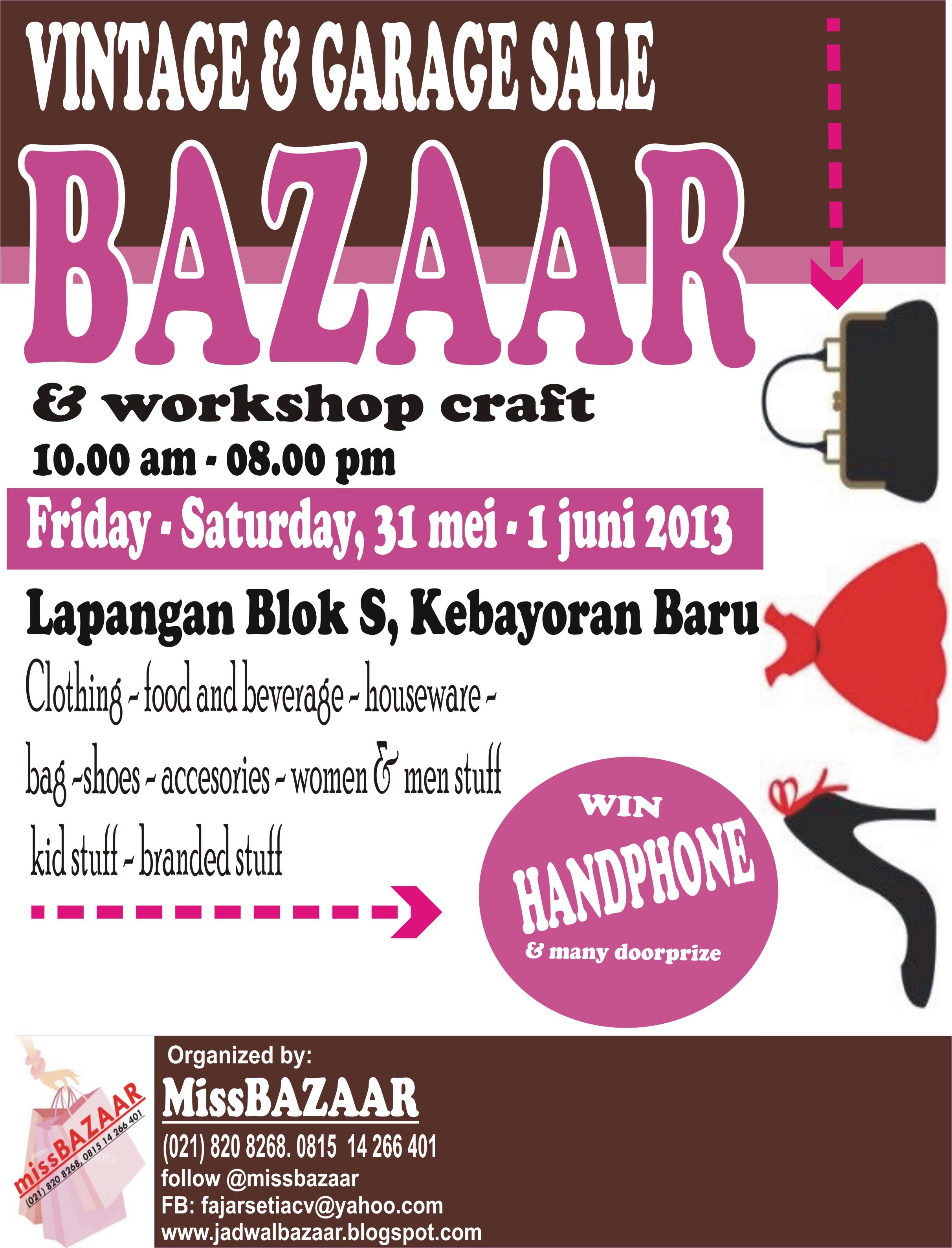 31st May 1st June Blok S Jakarta Bazaar Rossrightangle