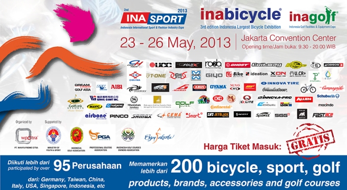 INASPORT 2013 - INAGOLF 2013 - INDONESIA BICYCLE SHOW 2013 INDONESIA