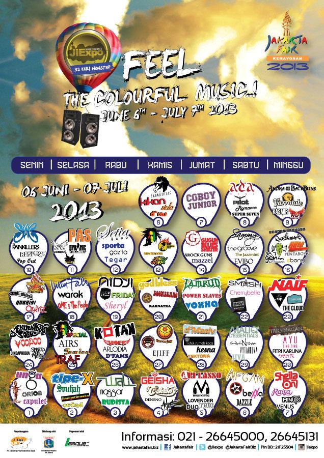 Jadwal artis Jakarta fair 2013-pekan raya jakarta 2013-prj 2013