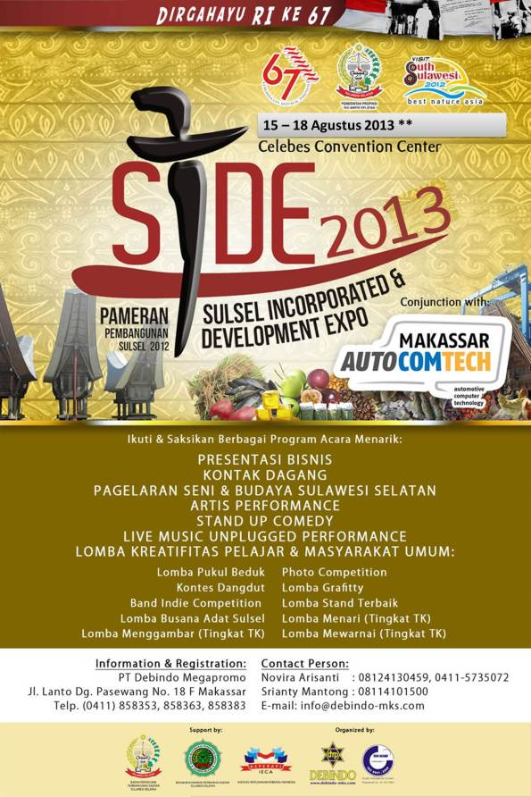Sulsel Incorporated & Development Expo 2013 - The 4th SIDE 2013