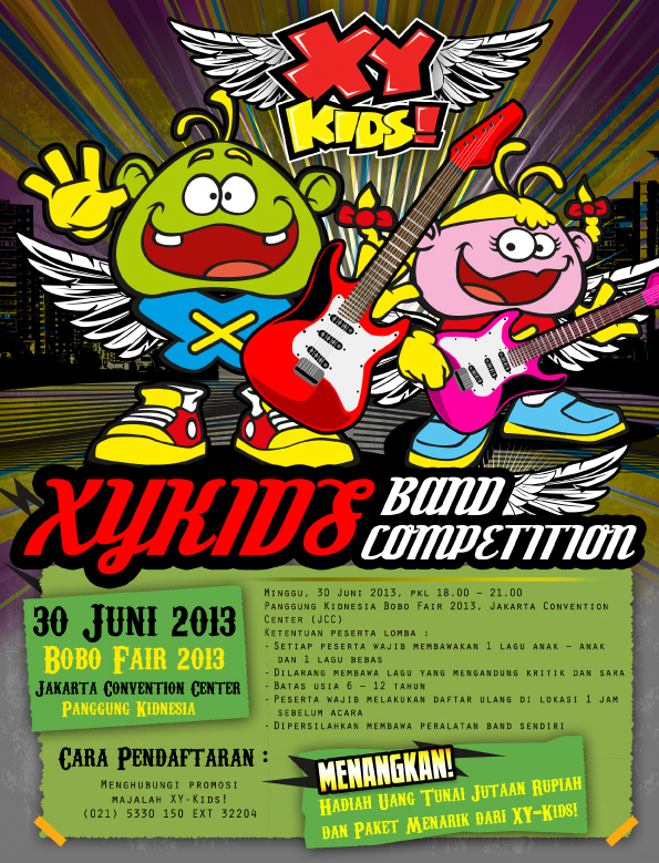 XY Kids Band Competition di Bobo Fair 2013 Jakarta