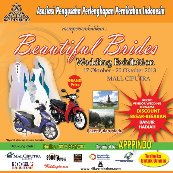Beautiful Brides Wedding Exhibition By APPPINDO, Mall Ciputra Jakarta, 17-20 Oct 2013