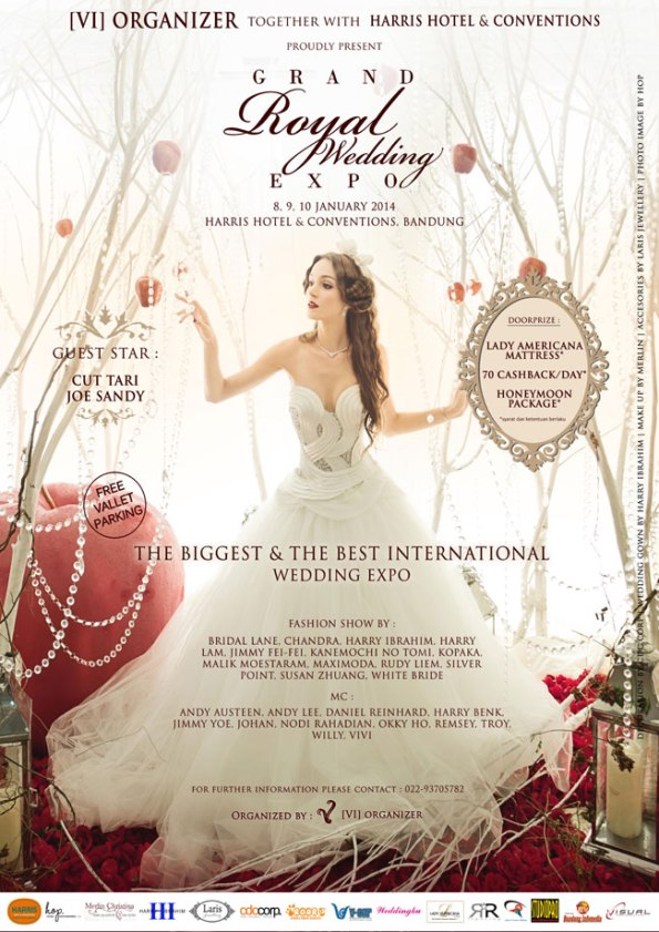 Grand Royal wedding Expo, Haris Hotel & Conventions, Bandung, 8-10 Jan 2014
