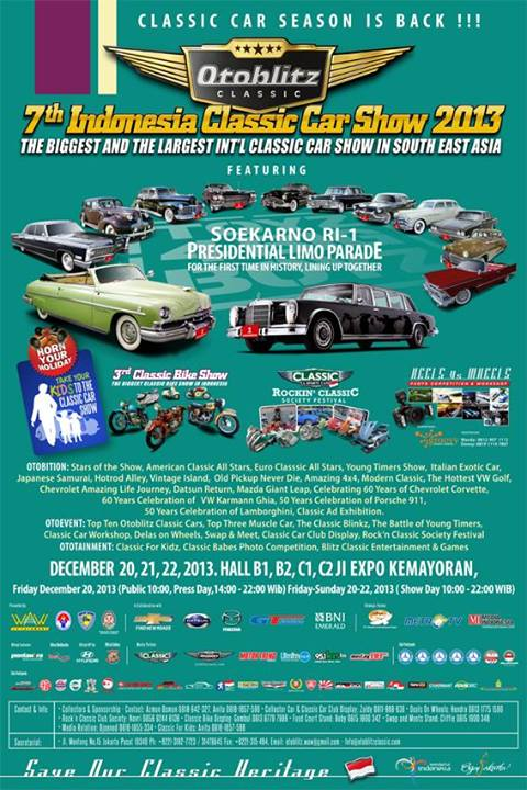 The 7th Otoblitz Indonesia Classic Car Show 2013