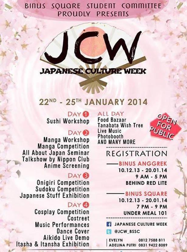 Japanese Culture Week 2014 « Informasi Pameran, Event, dan Bazaar Indonesia