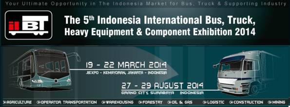 The 5th Indonesia International Bus, Truck, Heavy Equipment and Component Exhibition 2014