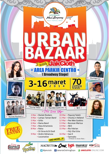 SUMMARECON URBAN BAZAAR with JAKCLOTH 2014