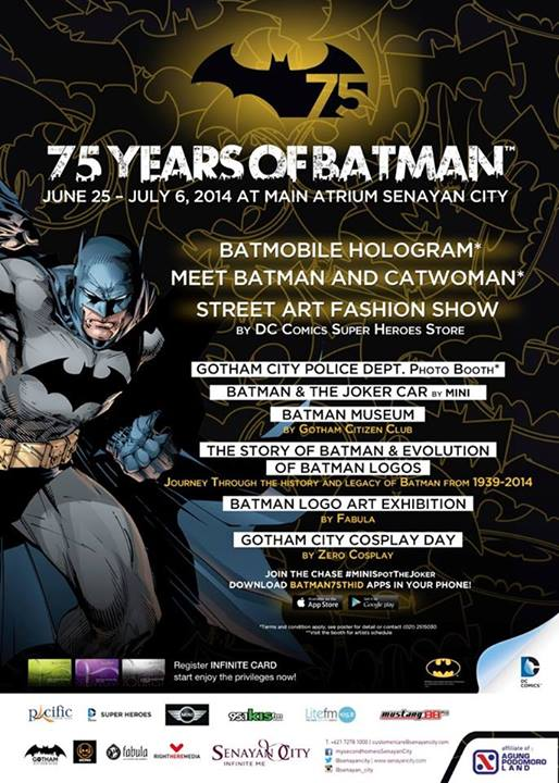 75 Years of Batman di Senayan City
