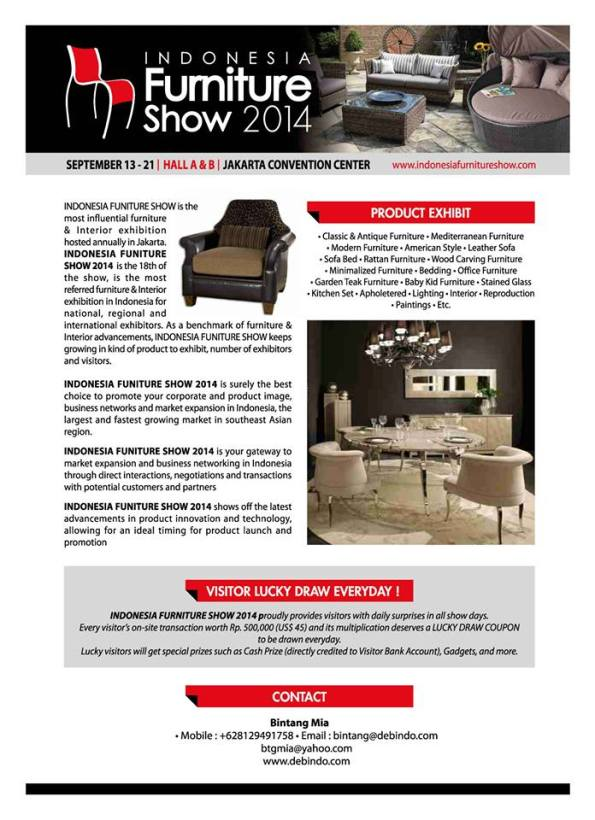 Indonesia Furniture Show 2014 september