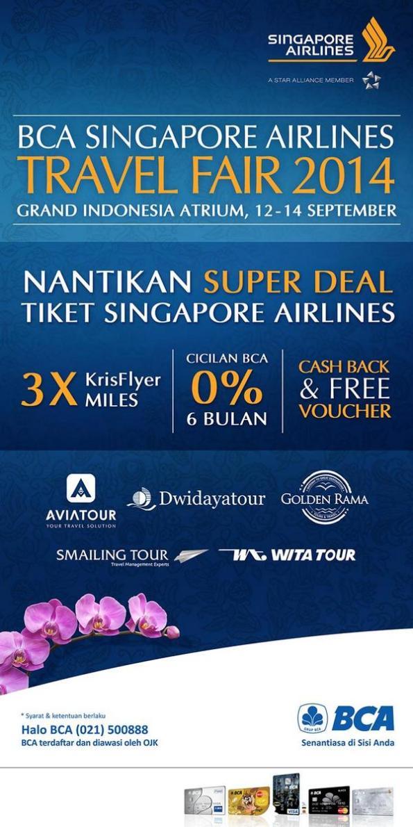 bca singapore airlines travel fair 2014 GI