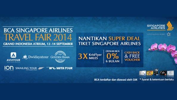 bca singapore airlines travel fair 2014