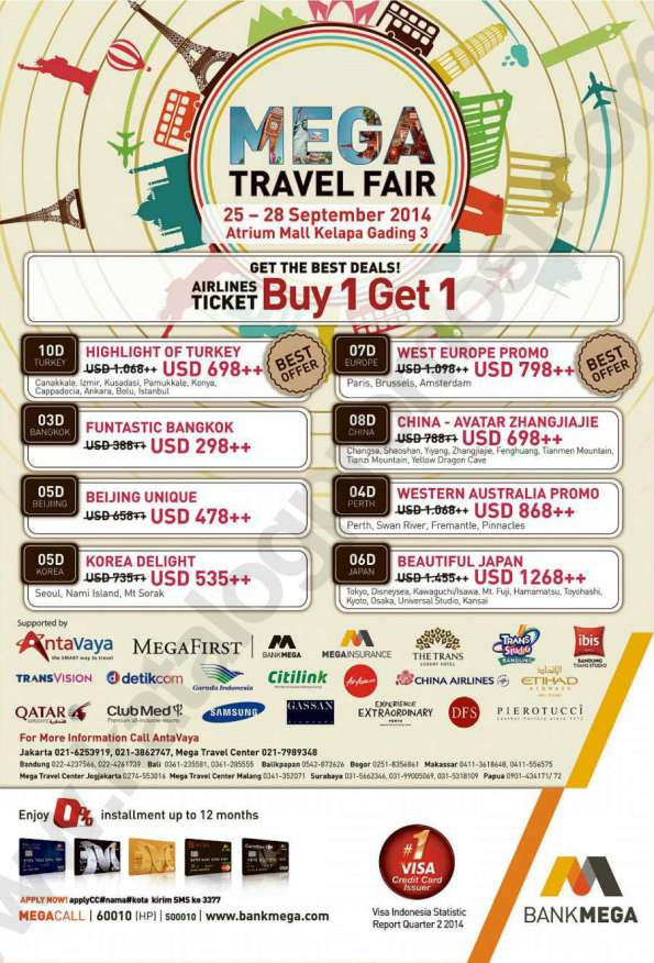 MEGA Travel Fair 2014 di Atrium Mal Kelapa Gading 3