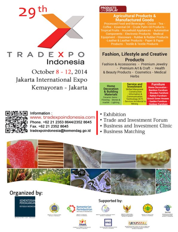 THE 29th TRADE EXPO INDONESIA 2014
