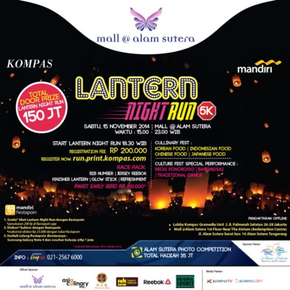 Lantern Night Run 5K – Mall Alam Sutera 2014