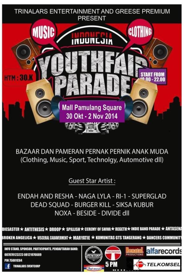 YOUTHFAIR PARADE 2014 – Tangerang