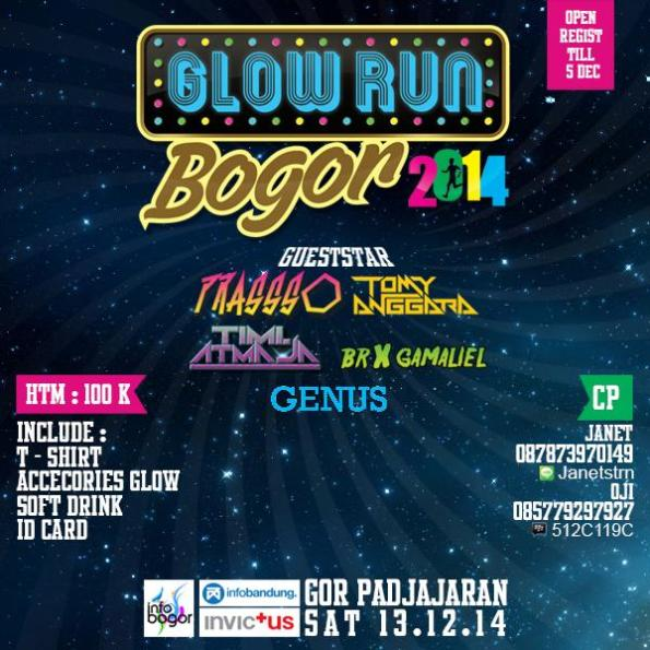 Glow run Bogor 2014