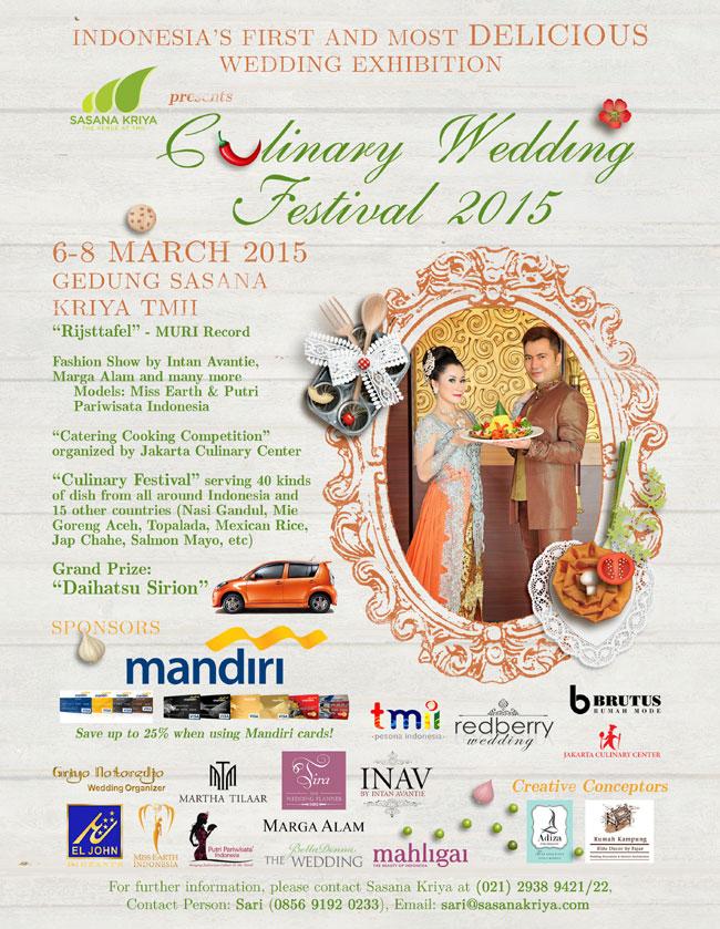Culinary Wedding Festival 2015 by Sasana Kriya