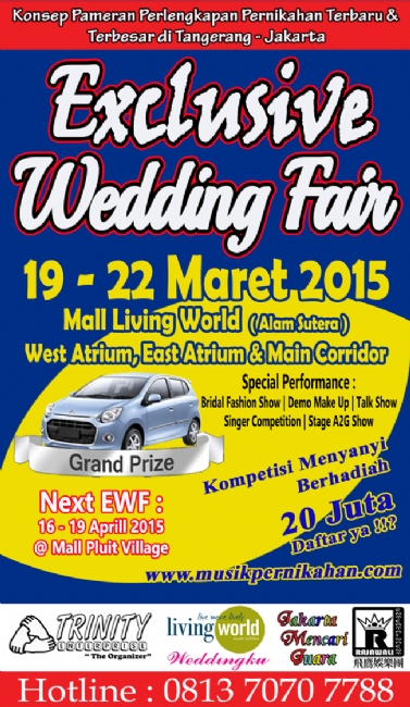 Exclusive Wedding Fair 2015 @ Mall Living World Alam Sutera