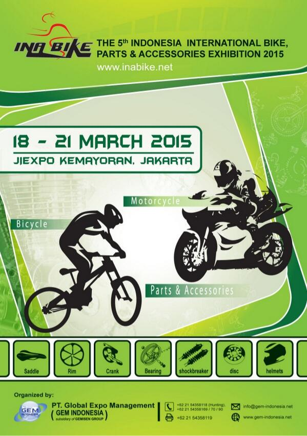 The 5th Indonesia International Bike, Parts & Accessories Exhibition 2015