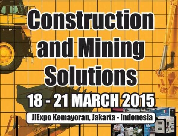The 5th Indonesia International Construction and Mining Machinery, Equipment, Vehicle, Services and Technology Exhibition 2015