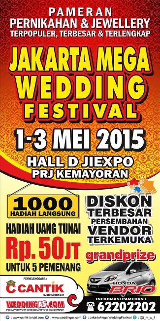 Jakarta Mega Wedding Festival 1 - 3 Mei 2015