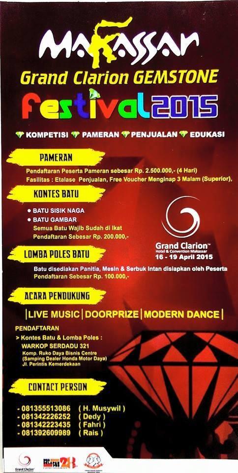 Pameran Batu Mulia Makassar – Grand Clarion Gemstone Festival 2015