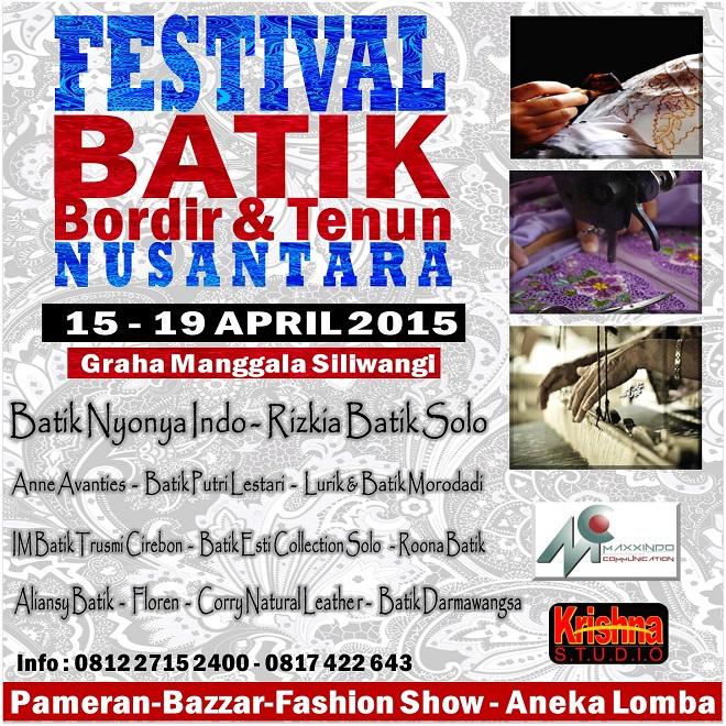 Pameran Festival Batik Bordir Dan Tenun Nusantara 2015 Bandung