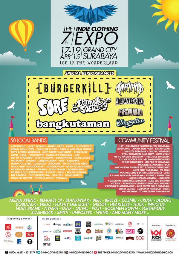 Pameran The 7th Indie Clothing Expo Surabaya