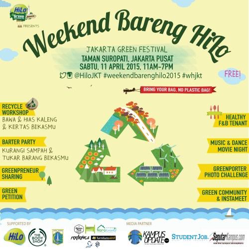 """Weekend Bareng Hilo """"Jakarta Green Festival"""" 2015"""