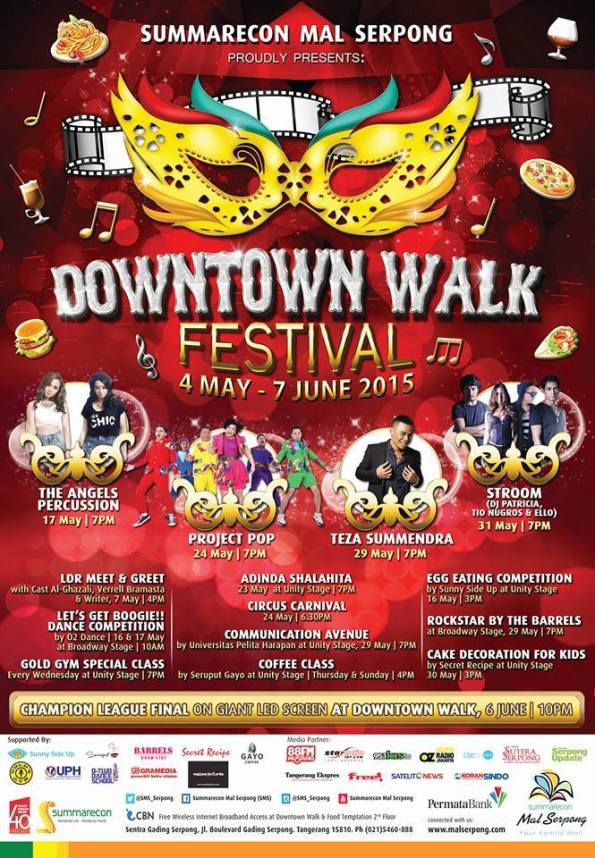 Downtown Walk Festival 2015 - Summarecon Mal Serpong Event 2015