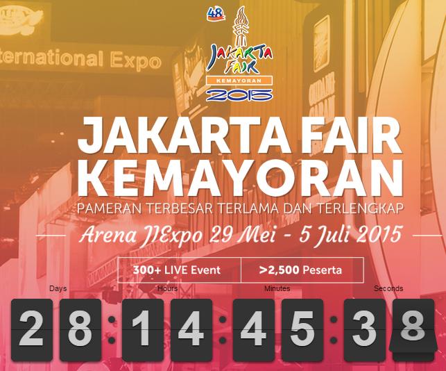 Jakarta Fair Kemayoran 2015 - Pekan Raya Jakarta 2015 Kemayoran - PRJ Kemayoran 2015