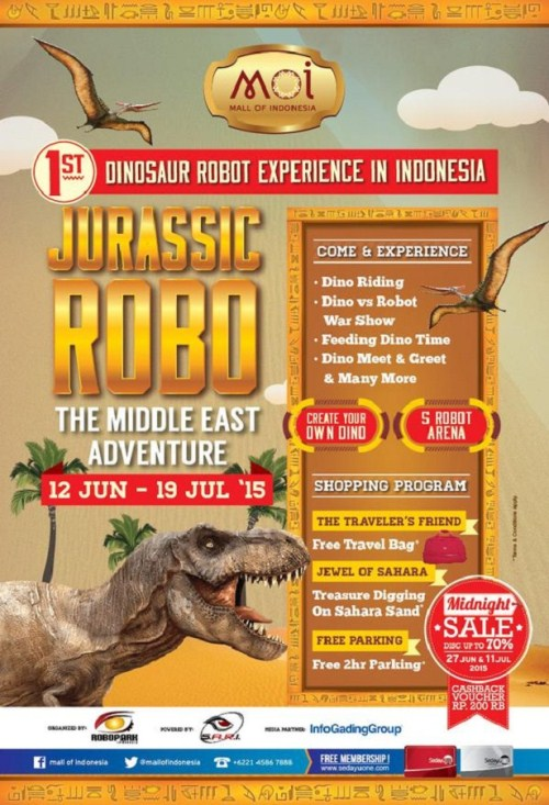 The 1st Dinosaur Robot Experience in Indonesia  - mall MOI 2015