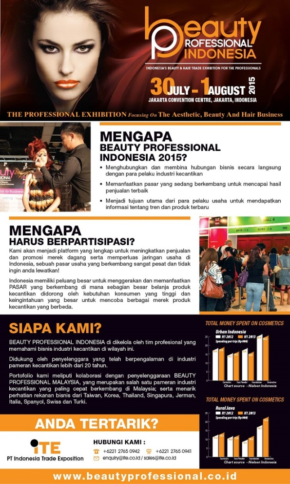 pameran Beauty Professional Indonesia 2015