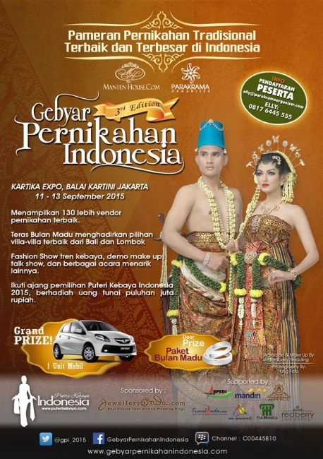 Gebyar Pernikahan Indonesia 2015 (3rd edition) by Manten House & Parakrama Organizer