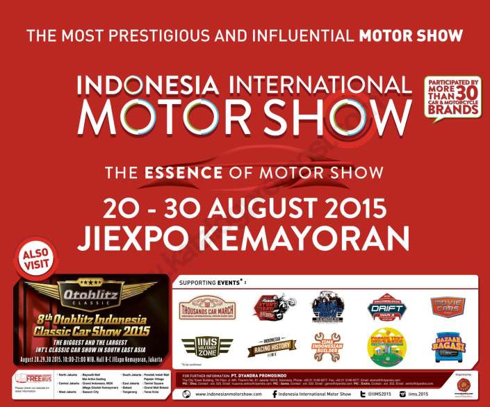 The Indonesia International Motor Show (IIMS) 2015