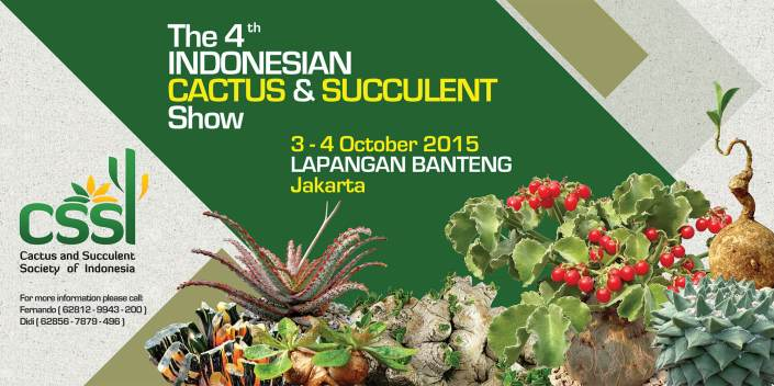 Pameran The 4th Indonesian Cactus & Succulent Show 2015