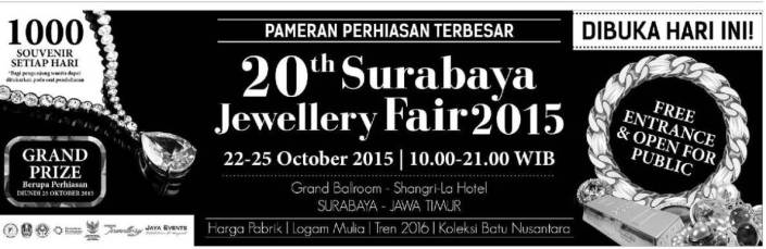 20TH SURABAYA INTERNATIONAL JEWELLERY FAIR 2015