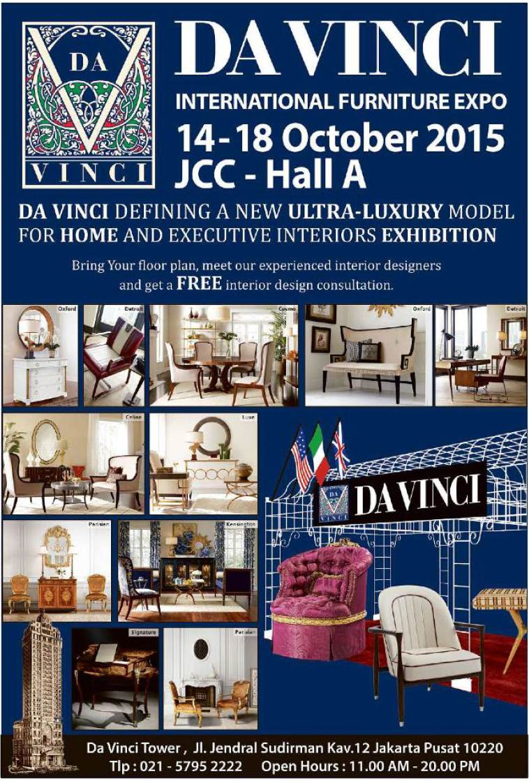 Davinci Furniture Expo, Jakarta 14 18 October