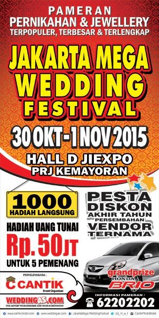 Jakarta Mega Wedding Festival 30 Oktober - 01 November 2015