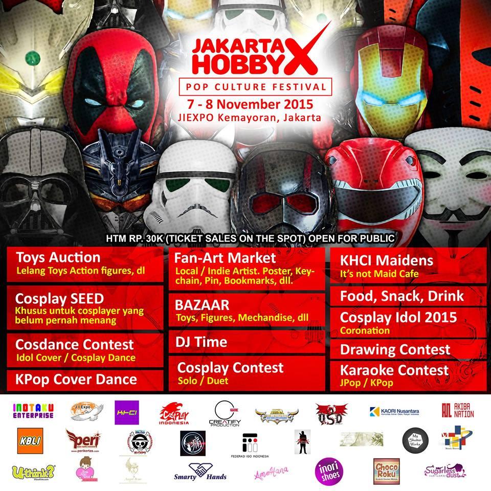 Jakarta Hobby X Pop Culture Festival 2015 « Informasi Pameran, Event, dan Bazaar Indonesia