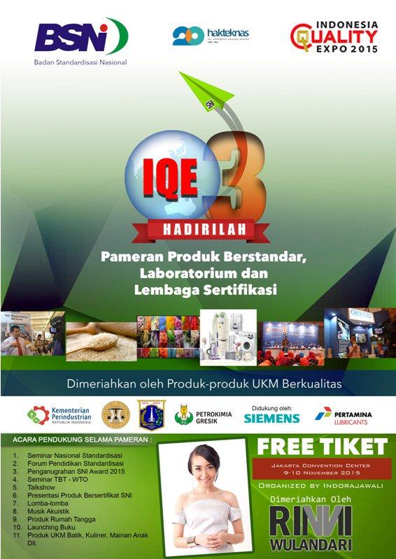 Pameran Indonesia Quality Expo 2015