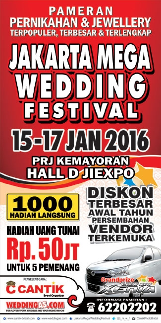 Jakarta Mega Wedding Festival 15 - 17 Januari 2016