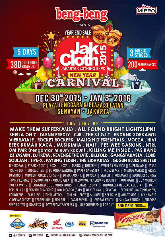 JakCloth Year End Sale 2015, It's Carnaval Time!