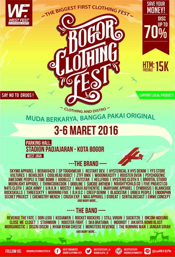 Bogor Clothing Fest 2016