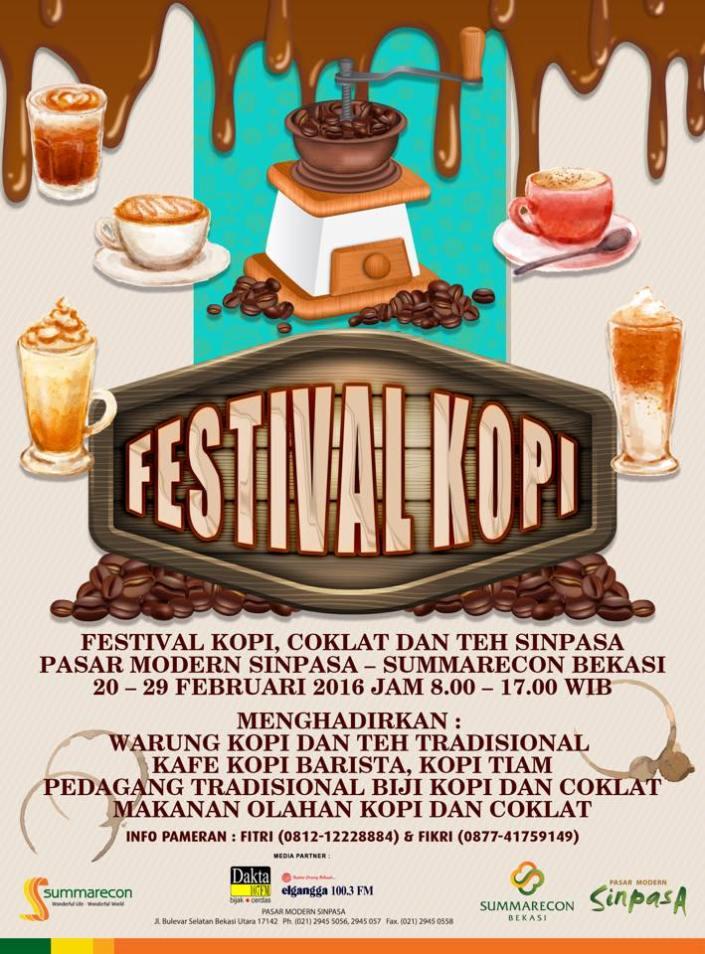 Festival Kopi, Cokelat dan Teh – Pasar Modern SINPASA Summarecon Bekasi