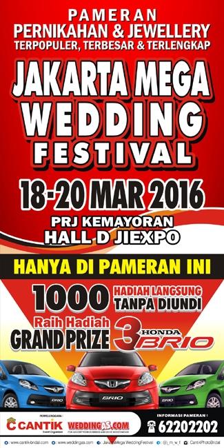 Jakarta Mega Wedding Festival 18 - 20 Maret 2016