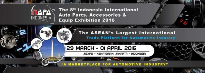 The 8th International Auto Parts, Accessories & Equipment Exhibition 2016 (INAPA 2016)
