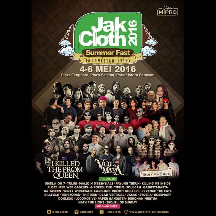 JakCloth Summer Fest – Senayan Jakarta, 4 – 8 Mei 2016