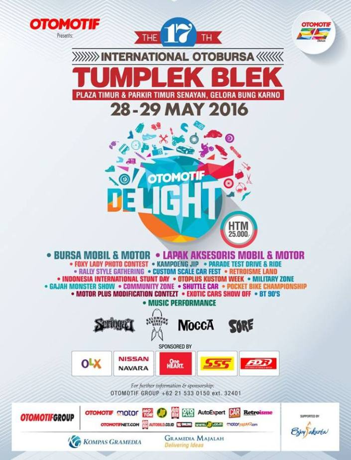 The 17th International OTOBURSA TUMPLEK BLEK 2016