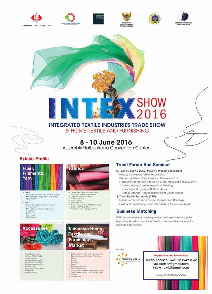 Intex Show 2016 - Integrated Textile Industries Trade Show & Home Textile and Furnishing 2016